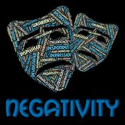 Negativity Word Indicates Negation Unresponsive And Rejecting Stock Illustration