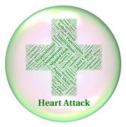 Heart Attack Indicates Ill Health And Ailments - stock illustration