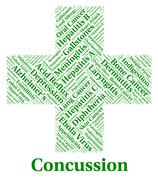 Concussion Illness Means Lose Consciousness And Affliction Stock Illustration