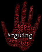 Stock Illustration of Stop Arguing Indicates Be At Odds And Argue