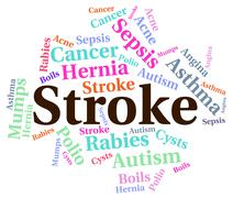 Stroke Illness Represents Transient Ischemic Attack And Disabili Stock Illustration