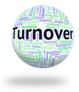 Turnover Word Means Gross Sales And Income Stock Illustration