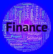 Finance Word Shows Text Accounting And Business - stock illustration