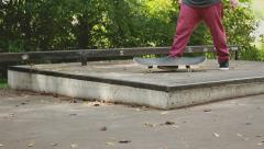 Stock Video Footage of Skateboard trick fail.