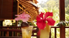 Cocktails in Exotic Location Stock Footage