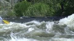 Rafting in high water Stock Footage