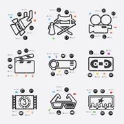 Stock Illustration of cinema infographic