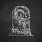Stock Illustration of tombstone icon