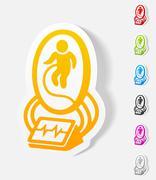 Realistic design element. artificial uterus Stock Illustration