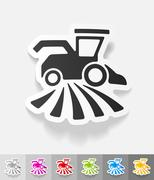 Realistic design element. combine-harvester Stock Illustration