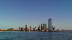 The Skyline of Jersey City, New Jersey Stock Footage