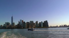 The Manhattan Cityscape as Seen from the Upper Bay Stock Footage
