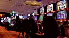 One side of slot machines - stock footage