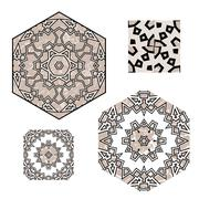 Stock Illustration of Lace  floral ethnic ornament seamless pattern