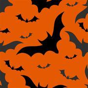Halloween bats seamless pattern Stock Illustration