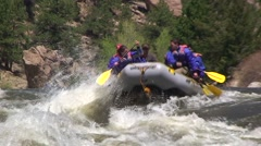 High Water Rafting Stock Footage