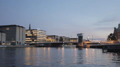Time lapse of Copenhagen canal and bridge Stock Footage