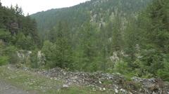 Beautiful valley, Hunedoara Stock Footage