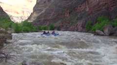 Rafting Huge Rapids on the Yampa - stock footage