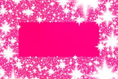 Frame from white snowflakes on a pink background with copyspace. - stock illustration