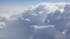 Flying High In The Sky Above Clouds - stock footage