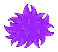 Purple fluffy ball bacteria Stock Illustration