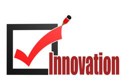 Stock Illustration of Check mark with innovation word