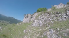 Ruins of fortress - stock footage