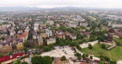 Aerial pan over the city 4K Stock Footage