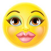 Beautiful Female Emoticon Stock Illustration