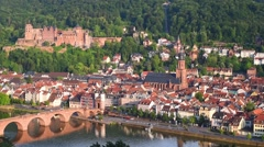 Heidelberg in the evening - stock footage