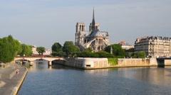 Notre Dame de Paris Stock Footage