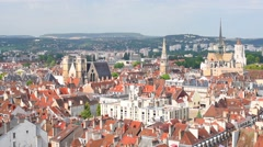 Dijon in a summer day Stock Footage