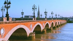 Bordeaux in a summer evening Stock Footage