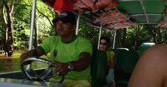 Exploring the wetlands in Amazon, Brazil - stock footage