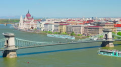 Budapest in a sunny spring day - stock footage