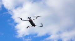 Quadrocopter fly up Stock Footage