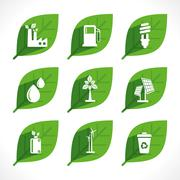 green energy generate icon design concept - stock illustration