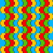 Creative block pattern background Stock Illustration