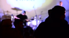 Performance rock of collective - stock footage