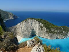 Paradise bay. Zakynthos island. Greece Stock Photos