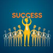 Team with success word or leadership concept Stock Illustration