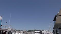 Cannes port - Palais des festivals Stock Footage