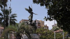 Cannes Statue on the croisette Stock Footage