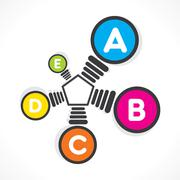 Colorful bulb info-graphics design concept Stock Illustration