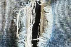 denim jeans with old torn of fashion jeans design - stock photo