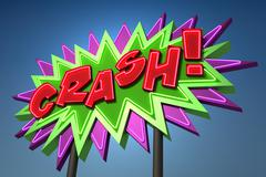 CRASH! Sound Effect Neon Sign Stock Illustration
