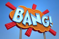 BANG! Sound Effect Neon Sign - stock illustration