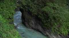 Partnachklamm Gorge in German Alps Stock Footage