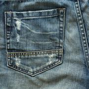 Back pocket of fashion blue jeans Stock Photos